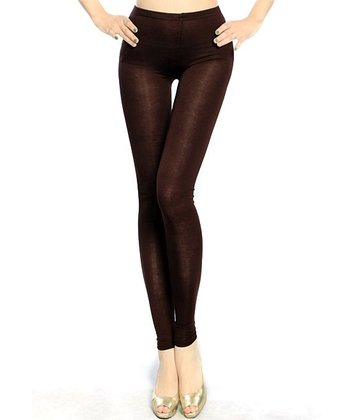 Brown Basic Leggings