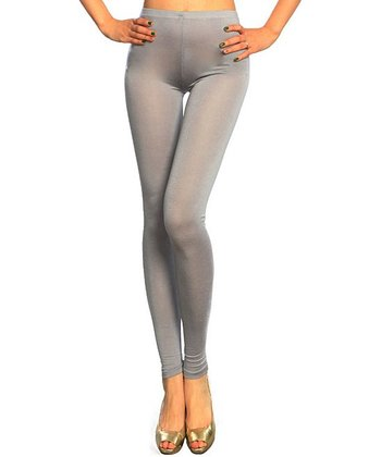 Gray Basic Leggings - Women