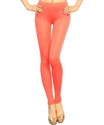 Coral Basic Leggings - Women