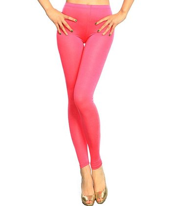 Fuchsia Basic Leggings - Women