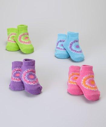 Baby Essentials Pink & Purple Tie-Dye Sock Set