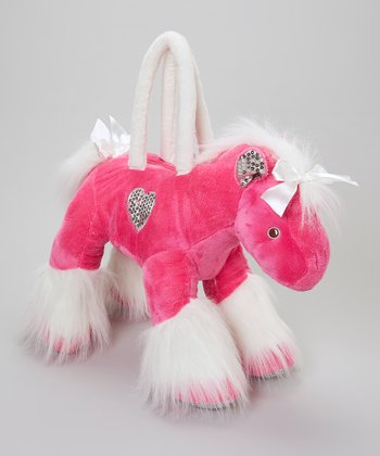 Hot Pink & White Horse Overnight Bag