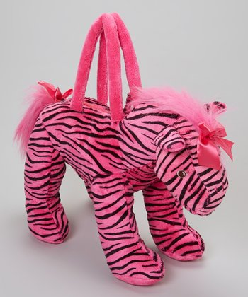 Pink & Black Zebra Overnight Bag