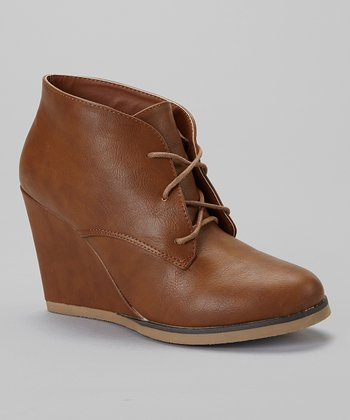 Tan Caroline Wedge Bootie