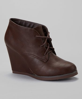 Brown Caroline Wedge Bootie