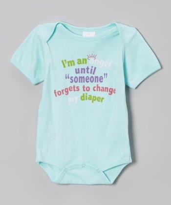 Mon Cheri Baby Blue 'Change My Diaper' Bodysuit - Infant