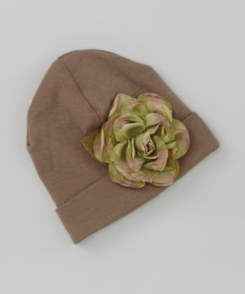 Brown Rose Beanie