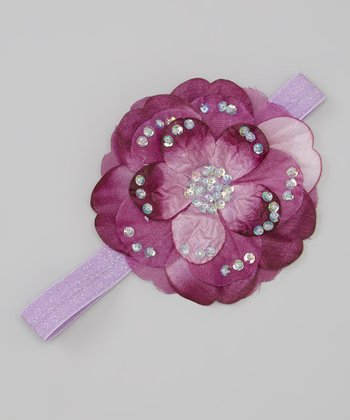 Lavender & Purple Flower Headband