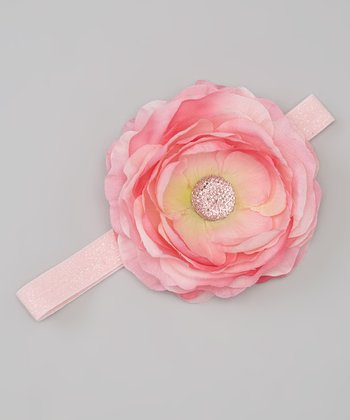 Pink & Rose Flower Headband