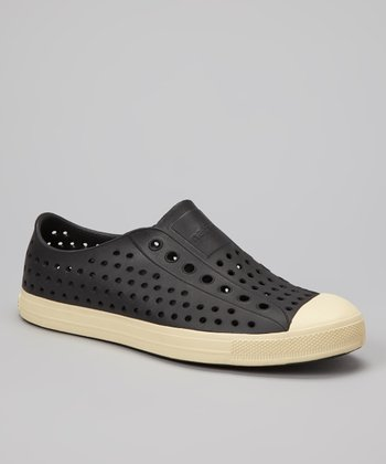 Jiffy Black Jefferson Slip-On Shoe