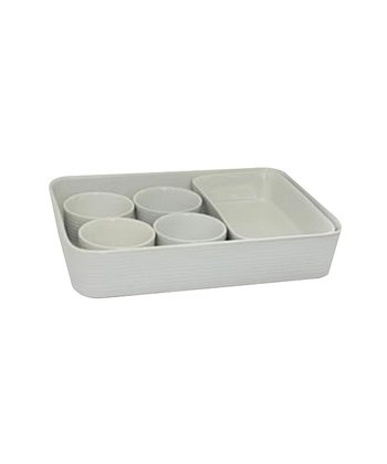 White Jana Six-Piece Baking Set
