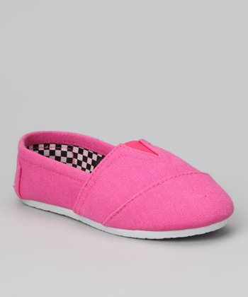 Pink Canvas Slip-On Shoe