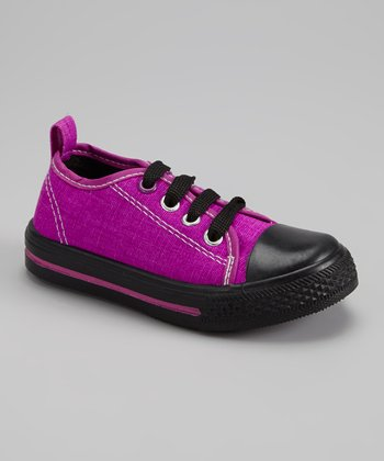 Purple & Black Slip-On Sneaker