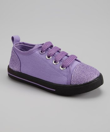 Lilac & Purple Glitter Slip-On Sneaker