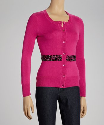 Very Berry Embellished Cardigan