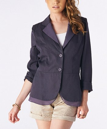 Charcoal Layered Blazer
