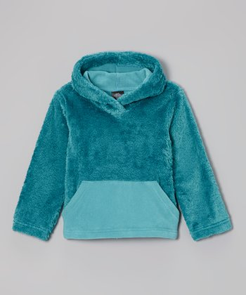 Teal Sherpa Hoodie - Toddler & Girls