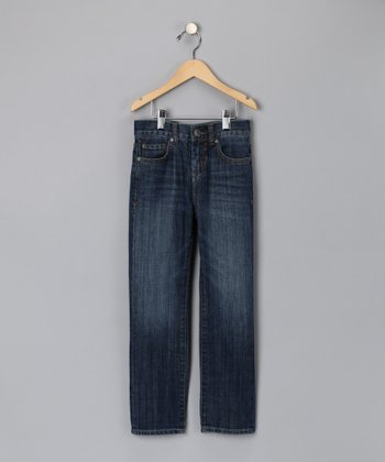 Medium Wash Factory Straight Leg Jeans - Toddler