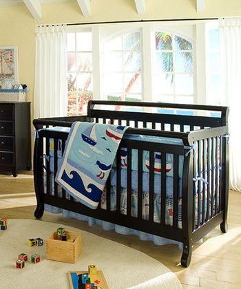 Ebony Lily 4-in-1 Convertible Crib & Guard Rail Set