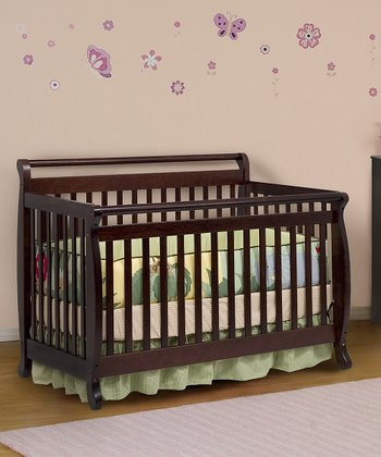 Espresso Lily 4-in-1 Convertible Crib & Guard Rail Set