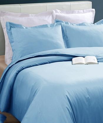Light Blue Oversize Duvet Cover Set