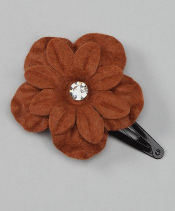 Brown Flower Clip