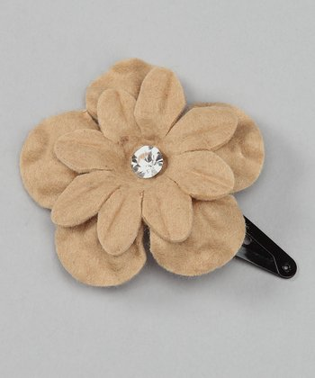 Tan Flower Clip