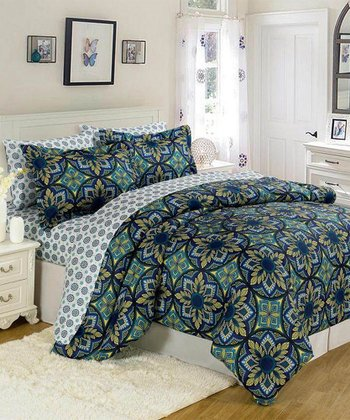 Blue Almeria XOXO Bed-in-a-Bag Set