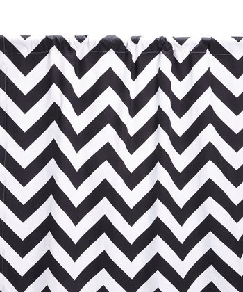 Black & White Zigzag Curtain Panel