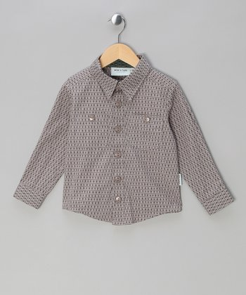 Light Gray Lukas Button-Up - Infant, Toddler & Boys