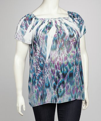 Pink Leopard Sublimation Plus-Size Top