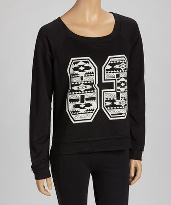 Black & White Tribal '83' Sweatshirt