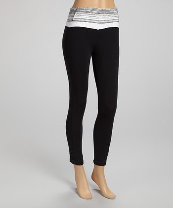 Black & Gray Capri Leggings