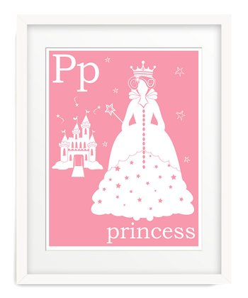 Light Pink P is for Princess Giclée Print