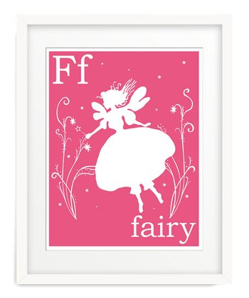 Dark Pink F is for Fairy Giclée Print