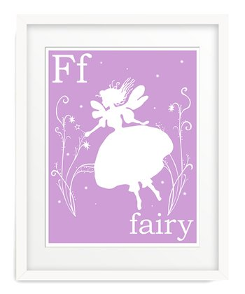 Lavender F is for Fairy Giclée Print