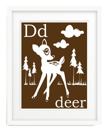 Brown D is for Deer Giclée Print