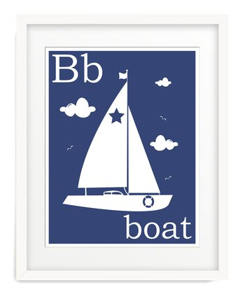 Navy B is for Boat Giclée Print