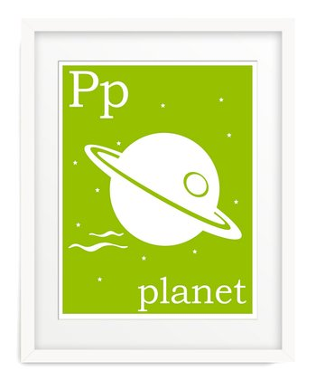 Green P is for Planet Giclée Print