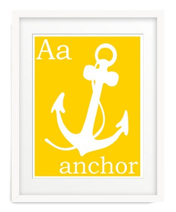 Yellow A is for Anchor Giclée Print