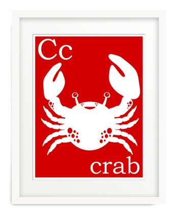 Red C is for Crab Giclée Print