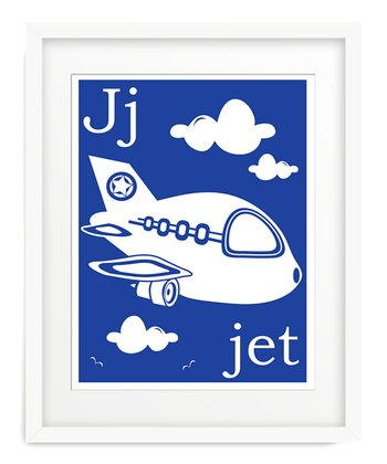 Primary Blue J is for Jet Giclée Print