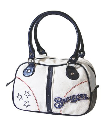 Milwaukee Brewers White Ethel Pebble Handbag