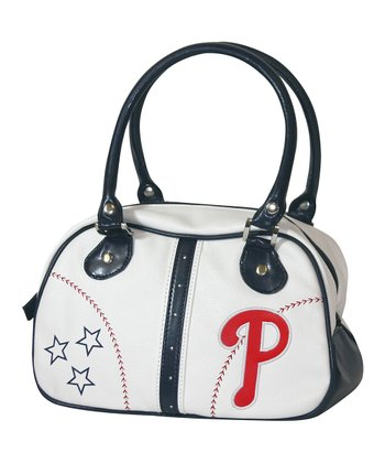 Philadelphia Phillies White Ethel Pebble Handbag