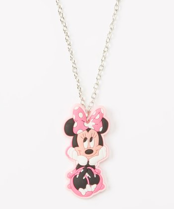 Minnie Mouse Necklace & Earrings Set