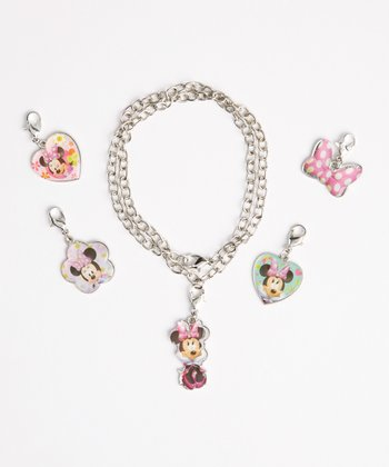 Minnie Mouse Bracelet & Charms Set