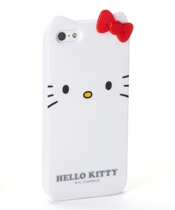 White Hello Kitty Character Case for iPhone 5