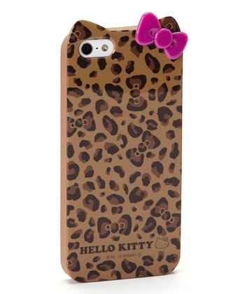 Brown Leopard Hello Kitty Case for iPhone 5