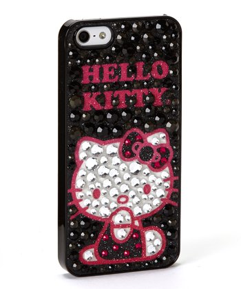 Black Rhinestone 'Hello Kitty' Case for iPhone 5