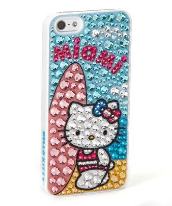 Rhinestone 'Hello Kitty Miami' Case for iPhone 5